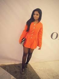 of the day orange coat dress