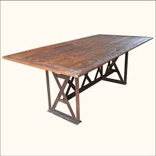 wood and wrought iron table 1b appalachian rustic teak table w foldable iron legs mom s