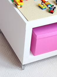 ikea lego table hack this easy lego table ikea hack is a play table and storage all in one