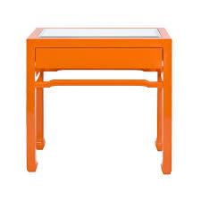 Orange Side Table Nightright Orange Side Table Worlds Away