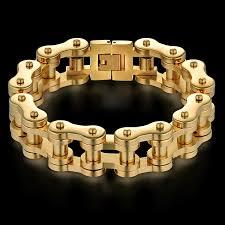 bracelet for biker bracelet for men gold color mcm fashion accessories