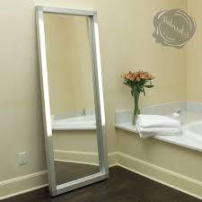 bathroom mirror with lights built in dark vanity storage white