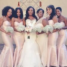 strapless mermaid style bridesmaid dresses online strapless