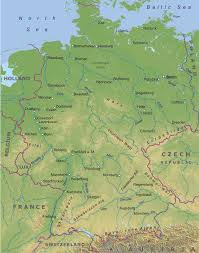 geographical map of germany germany physical map see more at http www