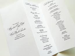tri fold wedding programs elegance pearl shimmer trifold wedding littlesparkcreations diy