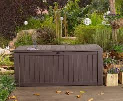 Keter Bench Storage Keter Patio Deck Storage Kmart Outdoor Wicker Storage Chest Bench