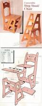 chair step stool plans furniture plans and projects