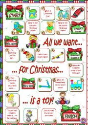 esl kids worksheets christmas boardgame