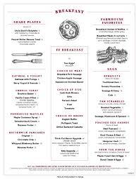 menu for brunch breakfast brunch menu dc founding farmers
