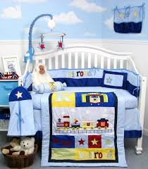 Baby Boy Nursery Bedding Sets Railroad Baby Boy Crib Nursery Bedding Set Wellbx Wellbx