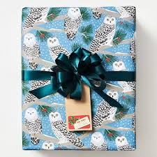 owl christmas wrapping paper gift wrapping paper paper source
