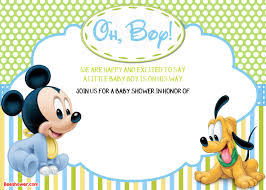 new free printable mickey mouse baby shower invitation template
