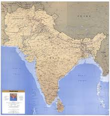 South Asia Political Map by Large Scale Political Map Of South Asia With Roads Railroads