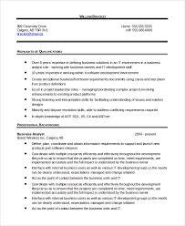 Business Analyst Resume Template Word Resume Sample In Word 10 Examples In Word