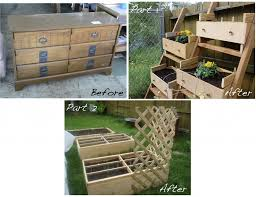 repurposed dresser makes a fantastic raised garden bed part 2