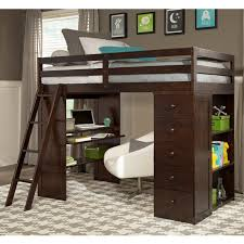 Canwood Bunk Bed Skyway Loft Bed With Desk And Storage Tower In Espresso 2420