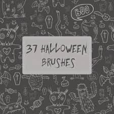 37 halloween brushes photoshop brushes