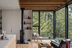 pacific northwest design rustic pacific northwest retreat wrapped in blackened timber curbed