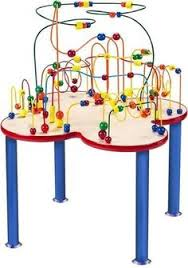 wooden bead toy table the fleur rollercoaster wooden bead table bead table pinterest