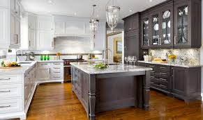 Large Kitchen Cabinets 20 Kitchens With Stylish Two Tone Cabinets