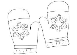 winter clothing coloring page gloves winter pinterest