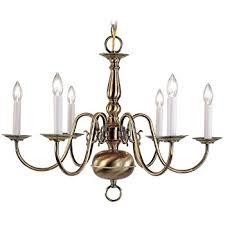 Aged Brass Chandelier Livex Lighting 5006 01 Williamsburg 6 Light Antique Brass