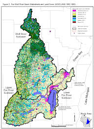 Wisconsin Trout Streams Map by Map Of The Watershed Lower Fox River Watershed University Of