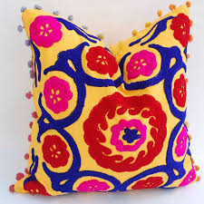 53 best embroidered suzani round cushion cover images on pinterest