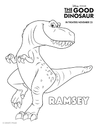disney good dinosaur free printable ramsey coloring