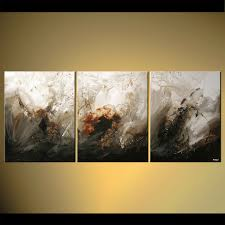 abstract painting modern home decor painting triptych 5782