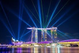 Light Show Marina Bay Sands Light Show Singapore André Distel