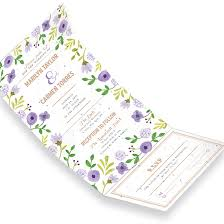 Send And Seal Wedding Invitations Painterly Florals Seal And Send Invitation Seal And Send Wedding