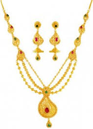 gold sets images 22k gold necklace earring sets necklace sets in range