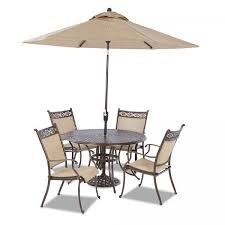Patio Umbrella Table And Chairs Chapin Furniture Cayside 48 Inch Dining Table