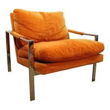 mid century lounge chair danish modern milo baughman thayer coggin chrome cube lounge chair