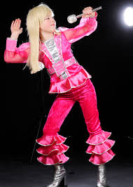 70s pink abba costume