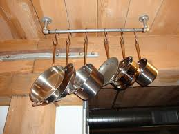 Kitchen Copper Pot Hanging Rack Pan Rack Hanging Pot Rack