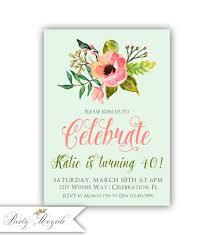 40th Birthday Invitation Cards Women U0027s 40th Birthday Invitations 40th Birthday Party