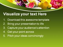 coloured templates exotic coloured flowers beauty powerpoint templates and powerpoint