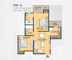 2bhk floor plan vvip addresses