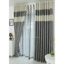 Pattern Window Curtains Furniture Healthy Cotton And Linen Living Room Colorful Window