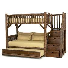beds rustic log furniture bunk beds wooden solid wood bed