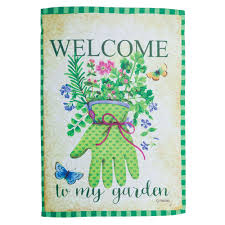 Welcome Flag Welcome To My Garden Two Sided Garden Flag U2013 Linda Anderson