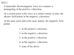 Kentucky how do electromagnetic waves travel images Q32 1 the drawing shows an electromagnetic wave in a vacuum the jpg