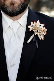boutonniere flower paper flower grooms boutonniere 5 flowers wedding accessory