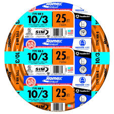 Southwire In Wall Digital 7 by Southwire 25 Ft 10 3 Solid Romex Simpull Cu Nm B W G Wire