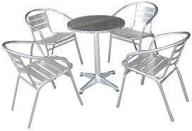 Aluminium Bistro Chairs Kensington Bistro Set Patio Furniture