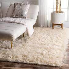nuloom hand woven flokati wool shag rug 5 u0027 x 7 u0027 free shipping