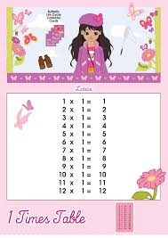 1 times table printable chart u2013 lottie dolls