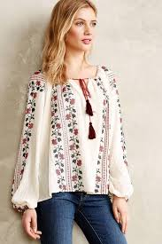 peasant blouse anthropologie virginia colentina peasant blouse where to